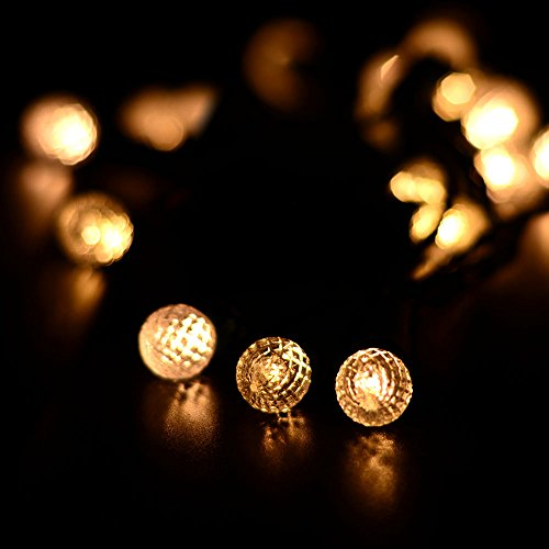 Globe String Lights Battery Operated Leds : lederTEK Decorative Battery Operated Globe String Lights 50 LED 13.1ft Fairy Ball Lighting Decor ...