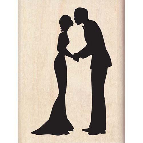 Inkadinkado(R) Rubber Stamp - Silhouette Kiss' - 1