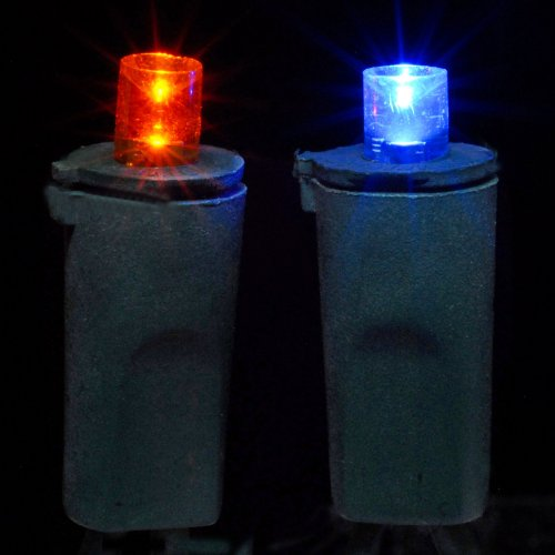 String Lights Name : Blue & Orange Wide Angle LED String Lights USD 15.99
