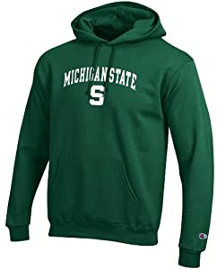 Michigan State Spartans Stadium Powerblend Screened Hoodie Sweatshirt by Champion by Champion