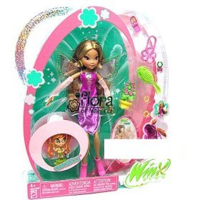 Buy Low Price Mattel Winx Club Fairy Doll Deluxe Figure Flora with Pixie Friend Chatta (B000A7ZP0S)