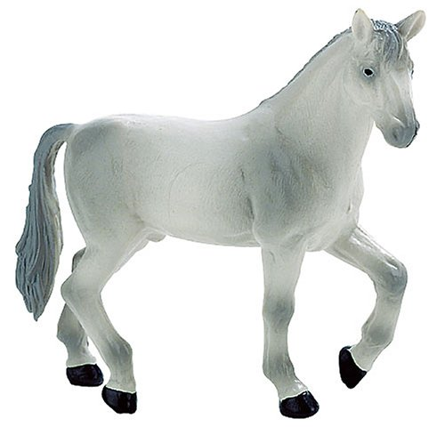 Bullyland Farmland: White Oldenburger Stallion - 1