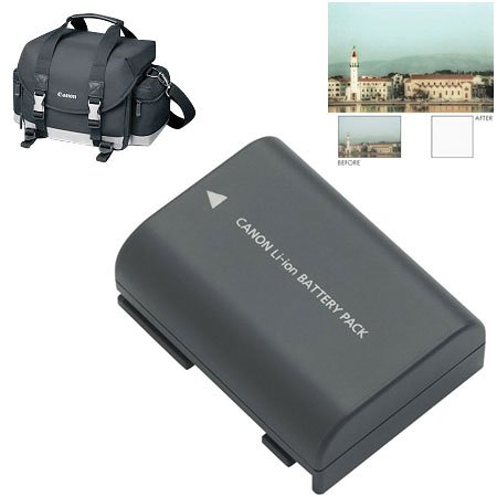 Canon Accessory Starter Kit for Digital Rebel XT and XTi (Includes 200DG Bag, NB-2LH Battery, & 58mm Haze Filter)