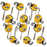 Green Bay Packers Bathroom Shower Curtain Hooks Rings Set at Amazon.com