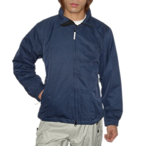 Mens Blue Insulated Zip-Up Snow Jacket (Size:M)