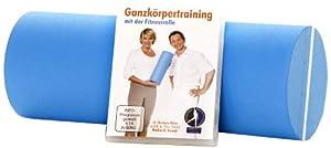 FLEXI-SPORTS® Fitnessrolle inkl. Trainingsprogramm auf DVD, blau/weiß, 1751
