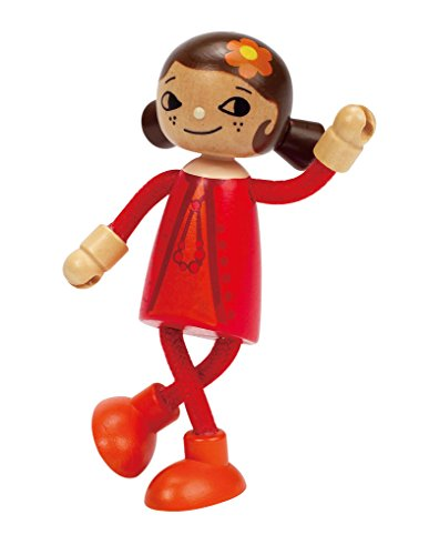 Hape Happy Family Poseable Wooden Mom Play Doll