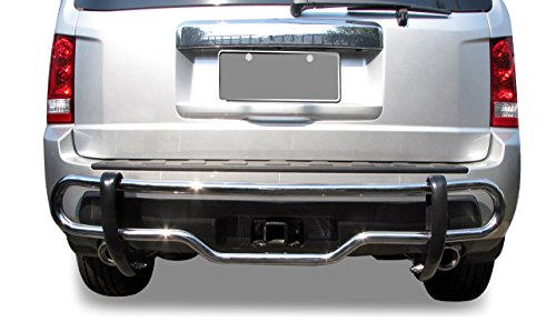 Black Horse Off Road 8HO5SS Stainless Steel Rear Bumper Guard Double Tube (Honda Pilot Rear Bumper Guard compare prices)