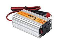 AlexVyan®-Genuine Accessory with 1 year warranty- 200W DC to AC Car Power Inverter with USB for Mobile Camera, Electronic Cattle, TAblet & Laptop Charging