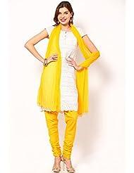 Castle Women's Churidar With Dupatta (Yellow_Free Size) - B00RBMSLDI