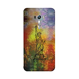 Skintice Designer Back Cover with direct 3D sublimation printing for Zenfone Selfie