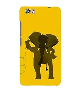 EPICCASE hello elephant Mobile Back Case Cover For Micromax Canvas Fire 4 A107 (Designer Case)