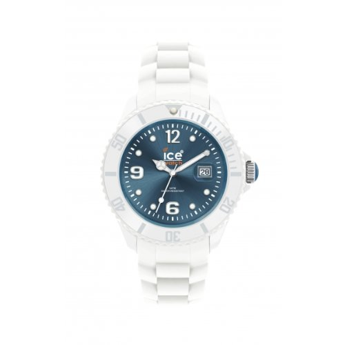 Ice Men'S Siwjbs10 Ice-White Jeans Blue Dial With White Bracelet Watch