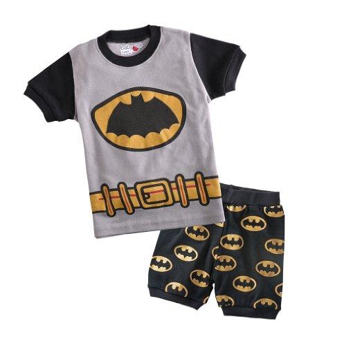 Cm-Cg Little Boys' Batman Pajamas Sleepwear Shirt & Shorts Outfits Sets 6-7Y