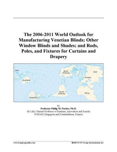 The 2006-2011 World Outlook for Manufacturing Venetian Blinds; Other Window Blinds and Shades; and Rods, Poles, and Fixtures for Curtains and Drapery