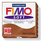 Staedtler FIMO Soft Polymer Clay - -Oven Bake Clay for Jewelry, Sculpting, Crafting, Caramel 8020-7 (Color: Caramel, Tamaño: 57 g)