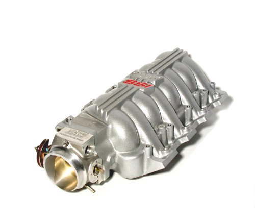 BBK 5006 Chevrolet GM LS1 High Performance SSI Series Intake Manifold - Titanium Silver Powder Coat Finish - Plus BBK 80mm Throttle Body for GM LS1 (Elec Control) (2002 Camaro Ls1 Performance compare prices)
