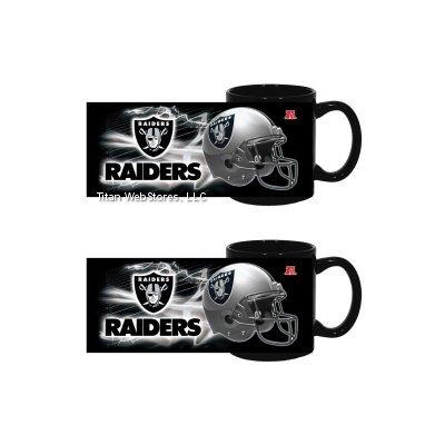 Nfl Raiders Ceramic Mugs (2) | Oakland Raiders 11Oz. Coffee Cups - Set Of 2