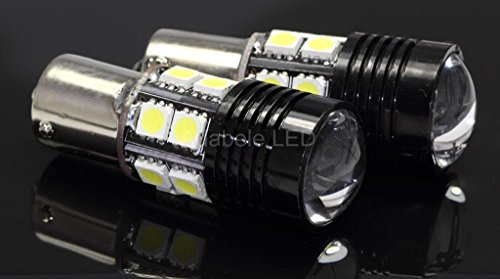 White Cree 1156 Ba15 7503 Led Light Bulb Turn Signal Backup Reverse L101 @ Ba15S 1073 1093 1129 1141 1159 1259 1459 Compare To Sylvania Osram Phillips Piaa