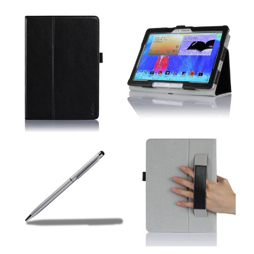 ProCase Samsung Galaxy Note 10.1 2014 Edition Case with bonus stylus pen - Flip Stand Leather Folio Cover for Samsung Galaxy Note 10.1 inch (2014 Edition) Tablet SM-P600 / P601 (Black)