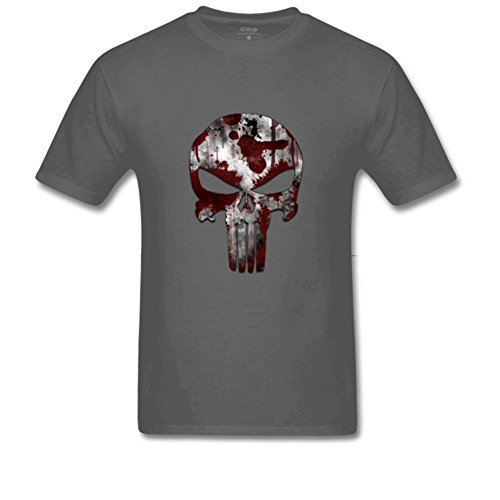 [cheap pirate costumes Men'sRelaxed Fitpirate skull T Shirt L Charcoal] (Homemade Pirate Ship Costumes)