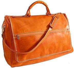 Floto Taormina Duffle in Orange - Leather Bag, Luggage, Weekender