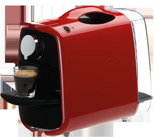 Delta Q Qosmo Portable Espresso Coffee Maker Capsule Machine - Gloss Red