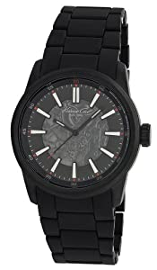 Kenneth Cole Men's Automatics KC9004 Black Polyurethane Automatic Watch with Black Dial