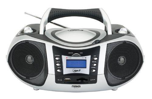 Naxa Portable MP3/CD Player with Text Display, AM/FM Stereo, USB/SD/MMC Inputs
