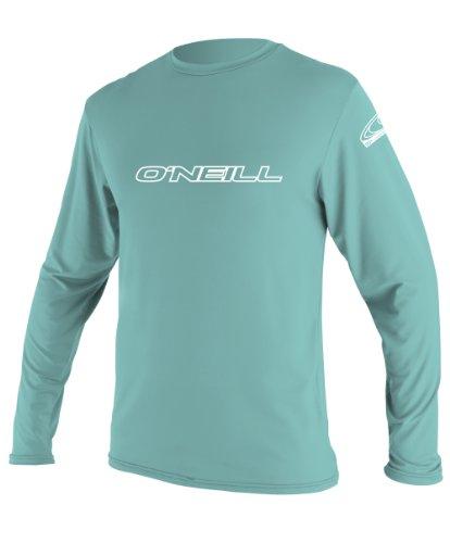 O'Neill Wetsuits UV Sun Protection Youth Basic Long Sleeve Sun Shirt Rash Guard Tee, Spy Glass Green, 16