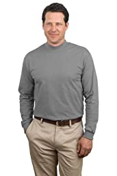 Port & Company - Mock Turtleneck, PC61M, Athletic Heather, 4XL