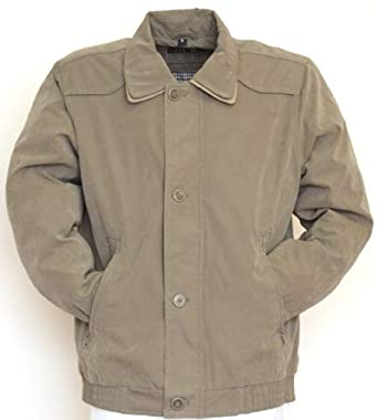 NEW MEN'S CLASSIC KELLY LIGHTWEIGHT SUMMER CASUAL STYLE JACKET SIZES S - XXL (S, OLIVE)