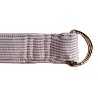Blue Stripe D-Ring Silk Ribbon Belt front-832113