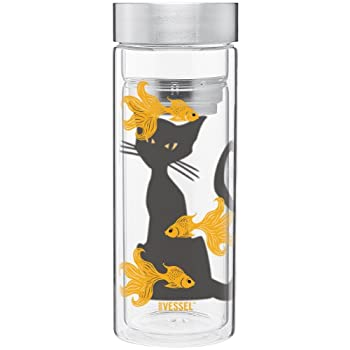 Goldfish Watch Double Wall Glass Tumbler