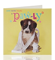 Get Well Cute Dog Greeting Card