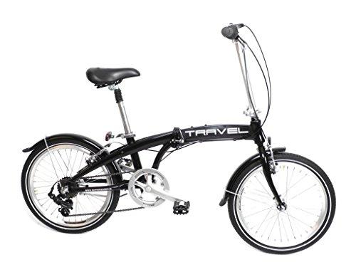 20-Zoll-Alu-Klapp-Falt-Rad-Fahrrad-Folding-Bike-SHIMANO-7-Gang-Camping-schwarz