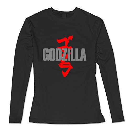 [AOPO Women's Long Sleeve Godzilla Shirt XX-Large Black] (Anguirus Costume)