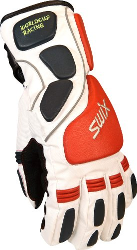 Swix Men's Beaver Creek Racing Collection Glove (White/New Navy, Small)