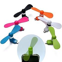 Gadget Deals Mini Portable Micro USB/OTG/Smartphone/Tablet/Mobile Fan (Multicolour)