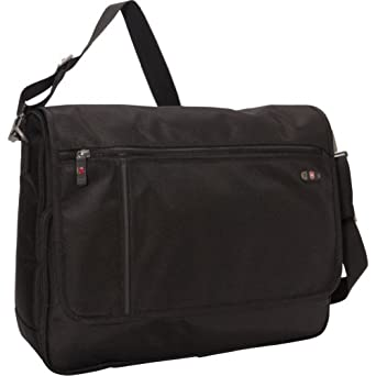 Victorinox Luggage Wide Messenger, Black, One Size