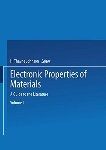 Electronic Properties of Materials: A Guide to the Literature