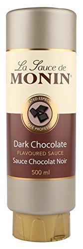 Monin Flavoured Sauce, Dunkle Schokolade, Sauce Chocolat Noir, Dark Chocolate, Schokoladensoße, 500 ml Flasche