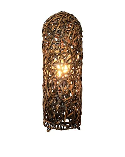 Colonial Style Lámpara De Mesa Pataya Marrón