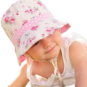 Millymook Girls Reversible Cotton Sun Hat Vintage Bucket -Pink faaad9a69eb3
