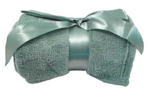 Simplicity 2Pc Wholesale Lots Plush Throw Blanket - Sage front-1018844