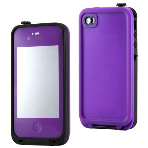Gearonic Purple Waterproof Shockproof Full Body Skin Case Cover Pouch For Iphone 4 4S 4G, Multi Purpose Protective Skin For Water, Shock, Snow, Dirt