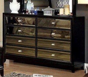 Golva Contemporary Style Black Finish Bedroom Dresser