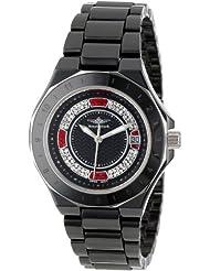 Breytennbach Women's Quartz Watch with Black Dial Analogue Display and Black Ceramic Strap