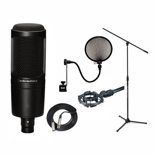 audio technica at2020 condenser mic shock mount filter xlr boom stand michael k potterher. Black Bedroom Furniture Sets. Home Design Ideas