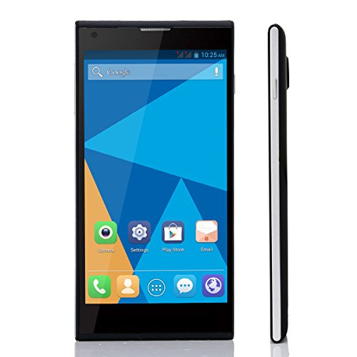 DOOGEE DAGGER DG550 MTK6592 Octa Core 1.7GHz Andriod 4.2.9 Phone 5.5 inch IPS OGS 1280*720 1GB RAM 16GB ROM 13.0MP GPS Smart Phone (Black)